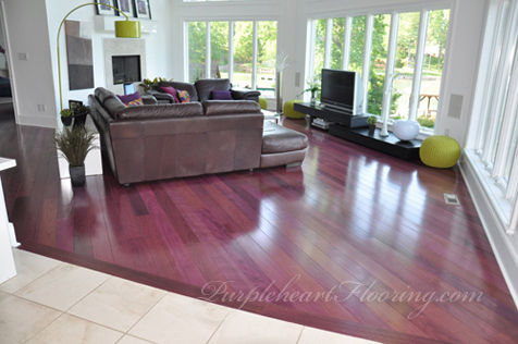 Purpleheart flooring picture gallery for Purple heart flooring